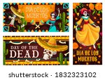Day Of The Dead Vector Banners...