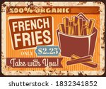 French Fries Fast Food Rusty...