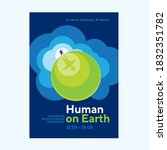 human and earth relationship... | Shutterstock .eps vector #1832351782