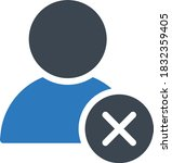 profile vector glyph color icon