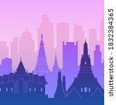 bangkok  thailand. flat... | Shutterstock .eps vector #1832384365
