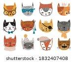 cute kittens. childish...   Shutterstock .eps vector #1832407408