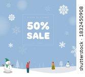 winter season shopping event...   Shutterstock .eps vector #1832450908