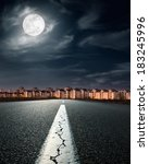 empty road. entry into the city ... | Shutterstock . vector #183245996