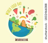 world food day  16th october  | Shutterstock .eps vector #1832466088