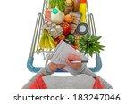overhead photo of a woman... | Shutterstock . vector #183247046
