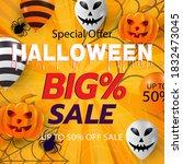 halloween event super sale... | Shutterstock .eps vector #1832473045