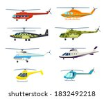 flying helicopter. aircraft... | Shutterstock .eps vector #1832492218