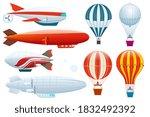 airship collection. dirigible ... | Shutterstock .eps vector #1832492392