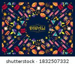 vector design of happy diwali... | Shutterstock .eps vector #1832507332