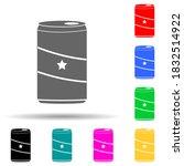 soda can multi color style icon....