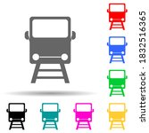 a train multi color style icon. ...