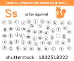 find and color all letters s.... | Shutterstock .eps vector #1832518222