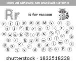 dot or color letter r. alphabet ... | Shutterstock .eps vector #1832518228