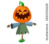Halloween Scarecrow With...