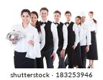 large group of waiters and...   Shutterstock . vector #183253946