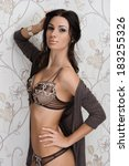 photo of young  girl in erotic... | Shutterstock . vector #183255326