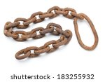 Rusty Chain Isolated On A Whit...