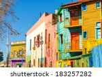 bright colors of caminito... | Shutterstock . vector #183257282