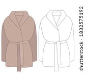 vector  isolated  female coat ... | Shutterstock .eps vector #1832575192