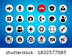 video chat user interface icons ...