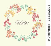 floral frame. can be used as... | Shutterstock .eps vector #183262376