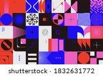 generative design artwork... | Shutterstock .eps vector #1832631772