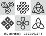 celtic knot. collection of...