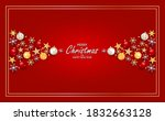 merry christams and happy new... | Shutterstock .eps vector #1832663128