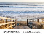 Wooden Stairs To The Beach At...