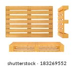 wooden pallet. 3d rendered... | Shutterstock . vector #183269552