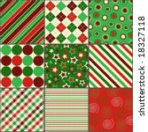 nine background patterns in... | Shutterstock .eps vector #18327118