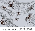 collection of cobweb for... | Shutterstock .eps vector #1832712562
