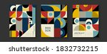 abstract  geometric covers for... | Shutterstock . vector #1832732215