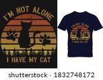 Cat Vintage Circle T Shirt...