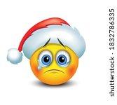 crying sad emoticon emoji with... | Shutterstock .eps vector #1832786335