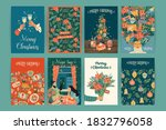 set of christmas and happy new... | Shutterstock .eps vector #1832796058