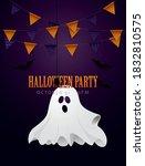 spooky halloween poster design... | Shutterstock .eps vector #1832810575