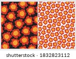 cute floral seamless vector... | Shutterstock .eps vector #1832823112
