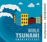 world tsunami awareness day...   Shutterstock .eps vector #1832824045