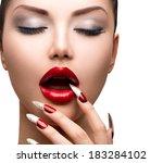 fashion beauty sexy model girl. ... | Shutterstock . vector #183284102