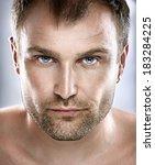 handsome man portrait. face.... | Shutterstock . vector #183284225