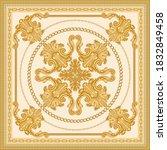 baroque silk bandana print on a ... | Shutterstock .eps vector #1832849458