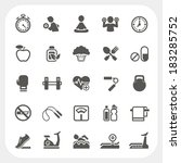 health and fitness icons set | Shutterstock .eps vector #183285752
