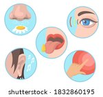 five senses set. smelling ... | Shutterstock .eps vector #1832860195