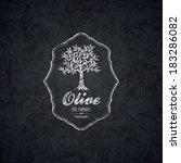 Olive Label Design. Olive Tree