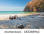 Scenic View Of The Beach Along...