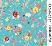seamless vector repeat pattern  ... | Shutterstock .eps vector #1832904268