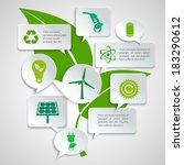 energy and ecology paper speech ... | Shutterstock .eps vector #183290612