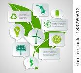 energy and ecology paper speech ... | Shutterstock .eps vector #183290612